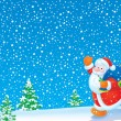 Santa Claus with presents — Foto de Stock