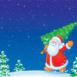 Santa Claus with Christmas tree — 图库照片