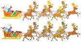 Santa Claus sledges — Stock Photo
