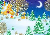 Haus des weihnachtsmannes — Stockfoto