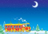 クリスマス電車 — ストック写真