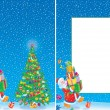 Stock Photo: Christmas frame and background