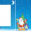 Christmas border and background — Stockfoto