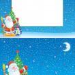 fondo y borde de Navidad — Foto de Stock