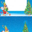 Christmas frame and background - Stock Photo