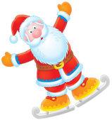 Santa Claus skater — Stock Photo