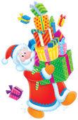 Santa Claus and Christmas gifts — Stock Photo