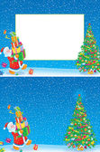 Christmas frame and background — Stock Photo