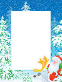 Christmas border with Santa Claus — Stock Photo
