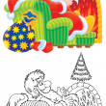 Santa Claus and Christmas tree — Stock Photo #15846469