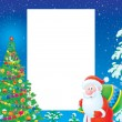 Christmas border - Stock Photo
