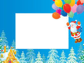 Christmas border with Santa Claus — Stock Photo