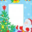 Christmas border — Vector de stock