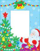 Christmas border — Stock Vector