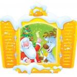 Santa and Reindeer celebrating Christmas — Stock Photo #16189421