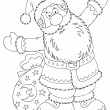 Santa Claus with a toy sack - Stock Photo