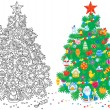 Christmas tree — Stock Photo