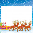 Border with Sleigh of Santa Claus — Stock Photo