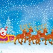 Sleigh of Santa Claus - Stock Photo