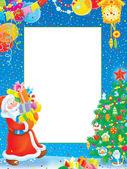 Christmas border — Stock Photo