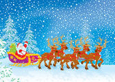 Sleigh of Santa Claus — Foto Stock