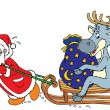 Royalty-Free Stock Vector Image: Santa Clause and Reindeer