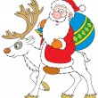 Royalty-Free Stock Vector Image: Santa Claus riding on Reindeer