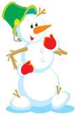 Snowman (vector) — Stock Vector
