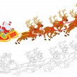 Sleigh of Santa Claus - Stock Vector