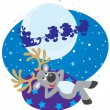 Dream of Reindeer - Stock Vector