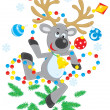 Reindeer dancing - Stock Vector