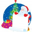 Santa Claus with announcement - Stock Vector