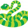 Stock Vector: Green Snake