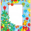 Christmas and New Year border - Stock Vector