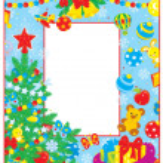 jul och nyår gränsen — Stockvektor