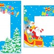 Christmas and New Year borders — Stock Vector