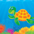 Turtle in the sea — Stock Photo #16867097