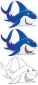 Sharks on white background — Stock Photo
