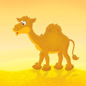 Camel, color illustration — Stock Photo
