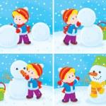Snowman — Stock Photo #18022617