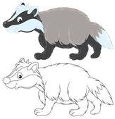 Badger — Stock Vector