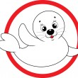 Baby seal — Stock Vector