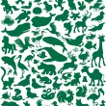 Animal silhouettes — Stock Vector #30853785
