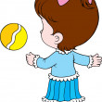 Girl with a ball — Stock Vector