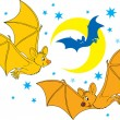 Cartoon Bats — Stock Vector