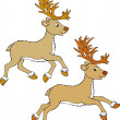 Reindeer — Vector de stock #30854075