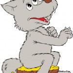 Cartoon Wolf — Stock Vector
