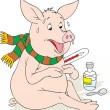 Swine flu — Vector de stock #30854223