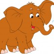 Stock Vector: Little elephant