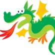 Fire-breathing dragon — Imagen vectorial